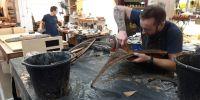 Darren repairing casework