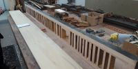 Grid of Contra Gamba/Flute soundboard ready for new solid timber table