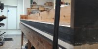 New table being glued onto Gamba / Flute soundboard