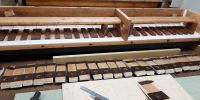 Pallets glued into Gamba/Flute soundboard
