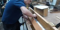 Fixing pallets into Gamba/Flute soundboard