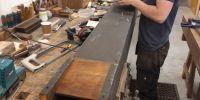 Repairing wooden pipe