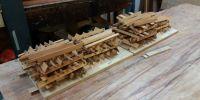 Original pallets stripped for restoration