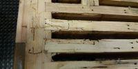 Woodworm in soundboard