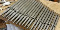 Diapason pipes under repair