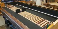 Restored soundboard ready for pallets