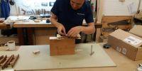 Re-leathering chest pallet/motors