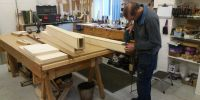 New wooden trunks being made
