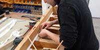 Luke restoring the Bourdon chest