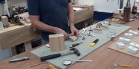 Dan re-leathering Roosevelt motors