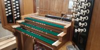 Console awaiting woodwork repair
