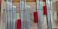 Reed treble flue pipes