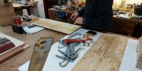Preparing burr oak veneers