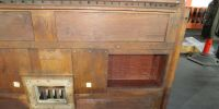 The underside of one of the two Choir / Positif soundboards removed from the instrument.  All of the soundboards are beautifully constructed of oak.  The original integral concussions appear to have been removed and blanked over.
