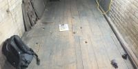 There are clear markings on the floor which we believe to be from the hydraulic engine fitted in 1877 by Cavaillé-Coll, and its electric motor replacement fitted in 1907 by Charles Mutin.