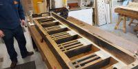 Open Diapason 16' C-side chest restoration